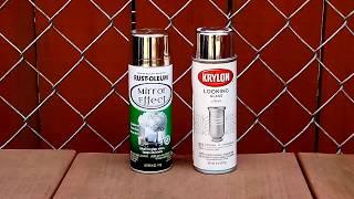 Krylon vs Rustoleum Mirror Spray Paint Comparison
