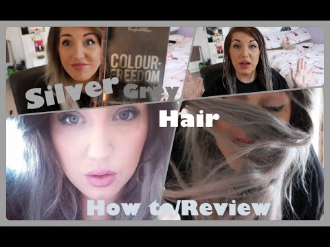 How To Permanent Silver Grey Hair Colour Freedom Review