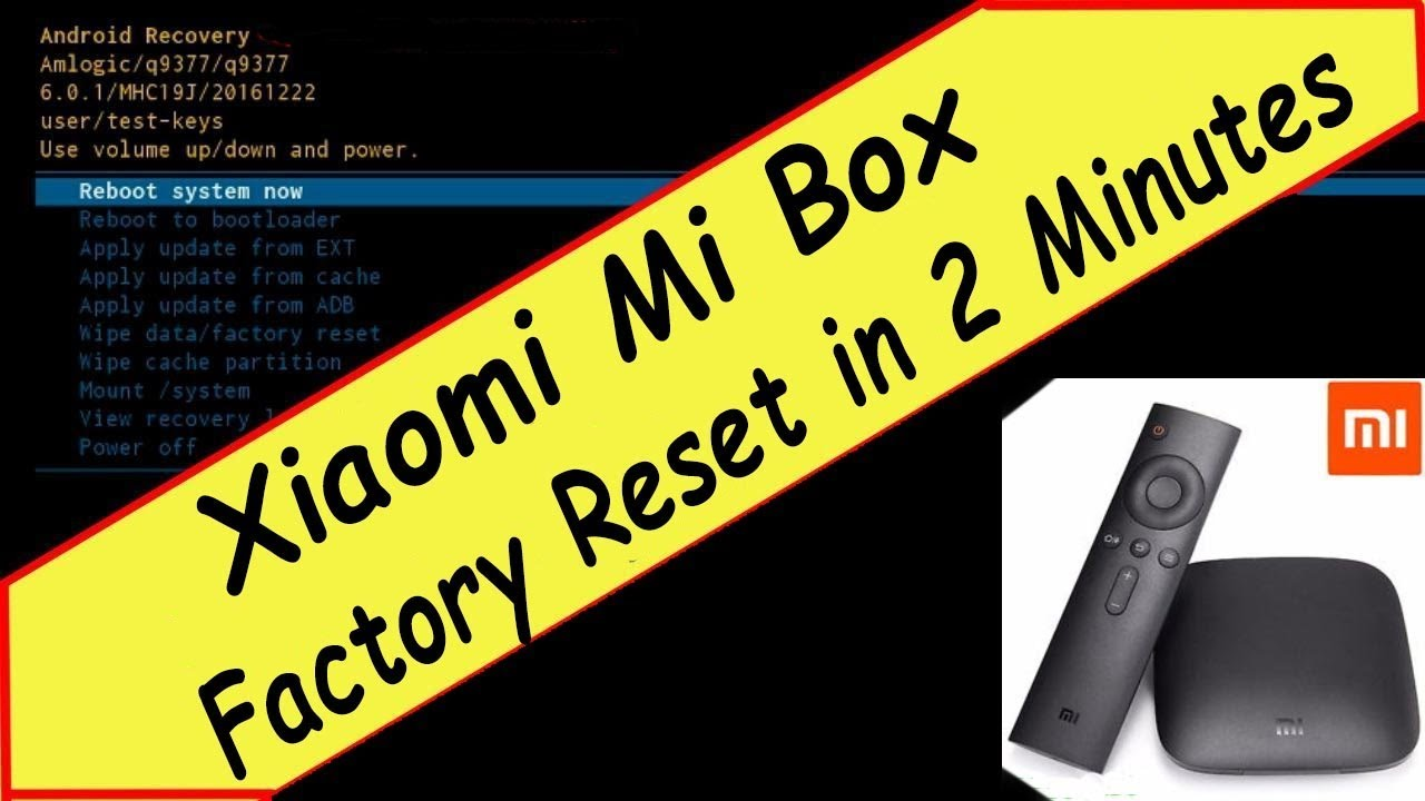 How To Wipe All Data & Factory Reset of Xiaomi Mi Android TV Box 3 in Two  Minutes Hack!!