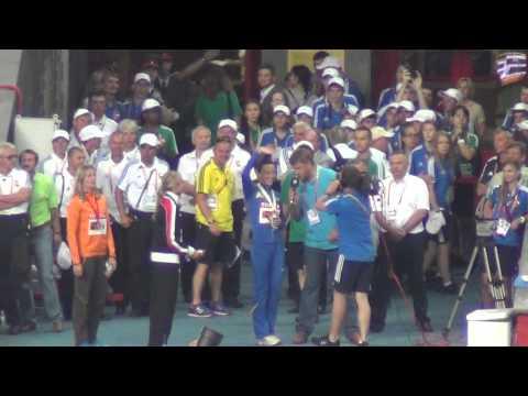 IAAF Worlds 13 08 2013 in Moscow Ganna MELNICHENKO interview HEPTATHLON winner