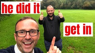 HE BROKE 100 IN HIS FIRST GOLF COMPETITION - after the golf tips