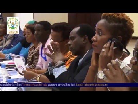 COMESA meeting with the Permanent Secretary  (MINICOM) at Serena hotel  Kigali 2016
