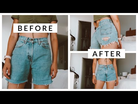 [VIDEO] - How To Thrift Flip Mom Jeans Into Instagram Baddie Shorts | Aja Dang 5