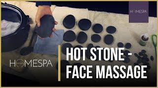 Hot Stones Massage Techniques [Unintentional ASMR] - Facial Massage Tutorial