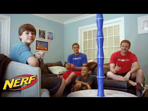 NERF Stunt – The Blind Ricochet with Vortex Revonix 360 ft. Dude Perfect