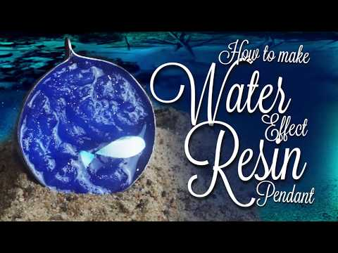 How to make Resin Water effect -  SEA pendant 🌊🌊🌊