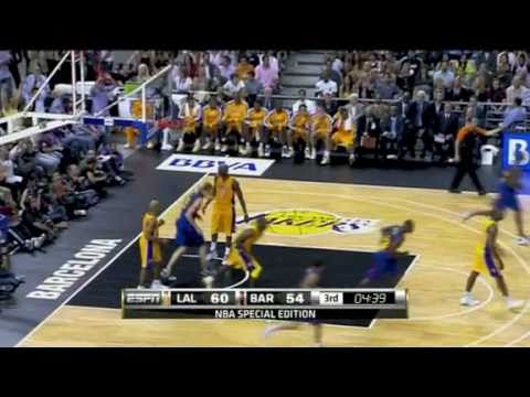 FC Barcelona Passing Play Vs Lakers (10/07/2010)