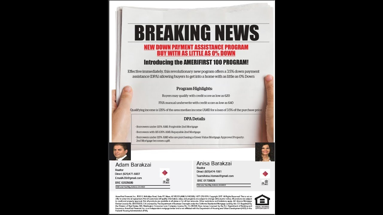 First Time Buyers, Buy A Home with 0% Down, You may qualify with a 620  Fico  Antioch Ca Concord Ca
