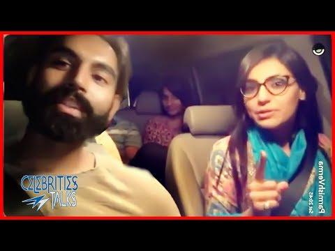 Parmish Verma & Ginni Kapoor Live in Car Live talk to Fans Tere Bina 2018 | Celebrities Talks