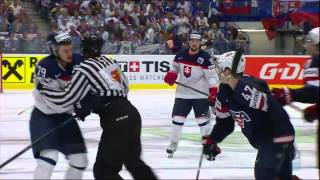 USA vs Slovakia Fight 2015-05-12 IIHF 2015 WC HIGHLIGHTS Swedish/Svenska