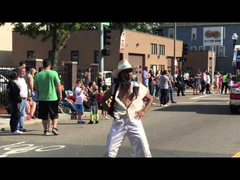 Funny Dancer at Dorchester Day Parade in Boston, Massachusetts