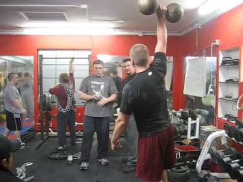 150 lb Globe Dumbbell Snatch - Underground Strength