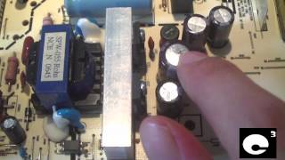 Another ViewSonic VA1930WM monitor with bad capacitors on the PSU