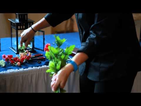 DIY Wedding Flowers Lanterns