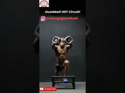 Download Dumbbell hlle circuit   The power house gym shivdaspura chandlai @vikasgujjarnekadi