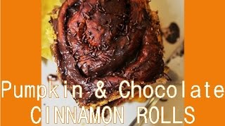 Cinnamon Roll Recipe Made With Pumpkin And Chocolate