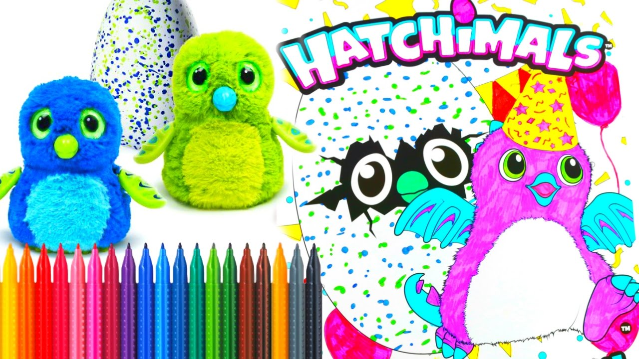 Hatchimals Coloring Book Speed Coloring Tiana Hearts YouTube
