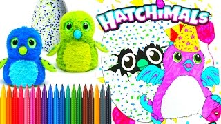 HATCHIMALS COLORING BOOK PAGES SPEED COLORING Tiana Hearts