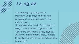 #Ewangelia   9 listopada 2018   (J 2, 13-22)