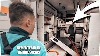 ✔ Visitando CEMENTERIO ABANDONADO de AMBULANCIAS - Exploracion Urbana Lugares Abandonados en España