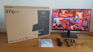 Unboxing and Review of Acer ET271 27-inch Full HD Monitor (IPS panel, 4ms, ZeroFrame, HDMI, VGA)