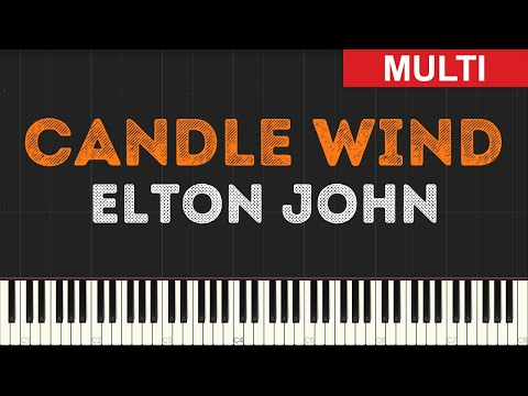 Elton John - Candle Wind (Instrumental Tutorial) [Synthesia]