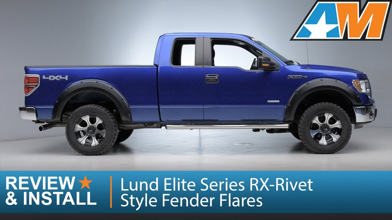 2009 2014 f 150 lund elite series rx rivet style fender flares styleside review install youtube