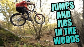 MTB FREERIDE - BUILDING JUMPS AND JIBS IN THE WOODS