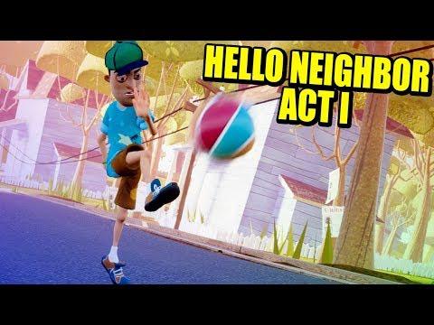 EL TRAUMA DEL VECINO - HELLO NEIGHBOR - ACT I   Gameplay Español