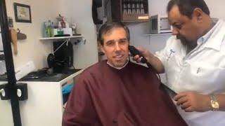 Beto O'Rourke Livestreams Ear Hair Trim at Barber
