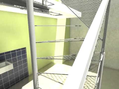 Video de escalera caracol 3d max youtube for Escaleras 3d max