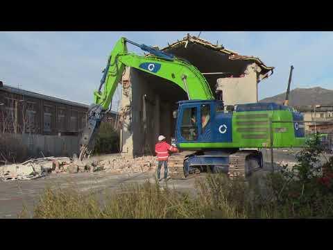 Ponte Morandi - Demolizione Capannone Amiu