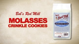 Sparkling Sugar | Molasses Crinkle Cookie Recipe | Bob's Red Mill