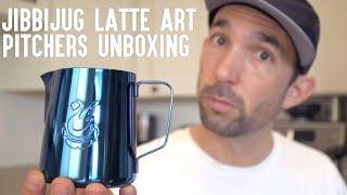 Jibbi Little JibbiJug Unboxing | Latte Art Milk Pitchers & Milk Jugs For Days | Real Chris Baca