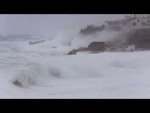 Hurricane force wind Bura 210km/h - Croatia - Ražanac - 05.03.2015.