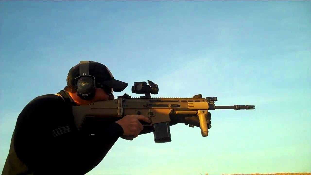 FN Scar 17 on Full Auto  YouTube