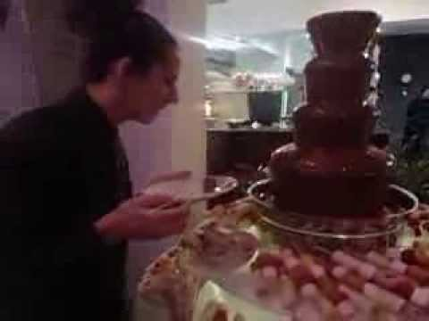 Birthday Party Chocolate Fountain at Italian restauarnt and Bar in Stalybridge