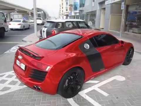 red chrome Audi R8 V8 FSI - Fibra Foil - YouTube