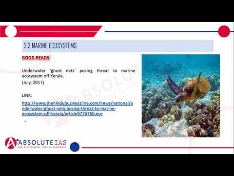 Aquatic Ecosystems (Part 2) Marine Ecosystem, Estuaries & Mangroves | Environment & Ecology | IAS