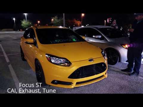 STREET RACING Mustang 5.0 vs Challenger SRT 392 vs Audi S6, Focus ST vs Mazda Speed 3