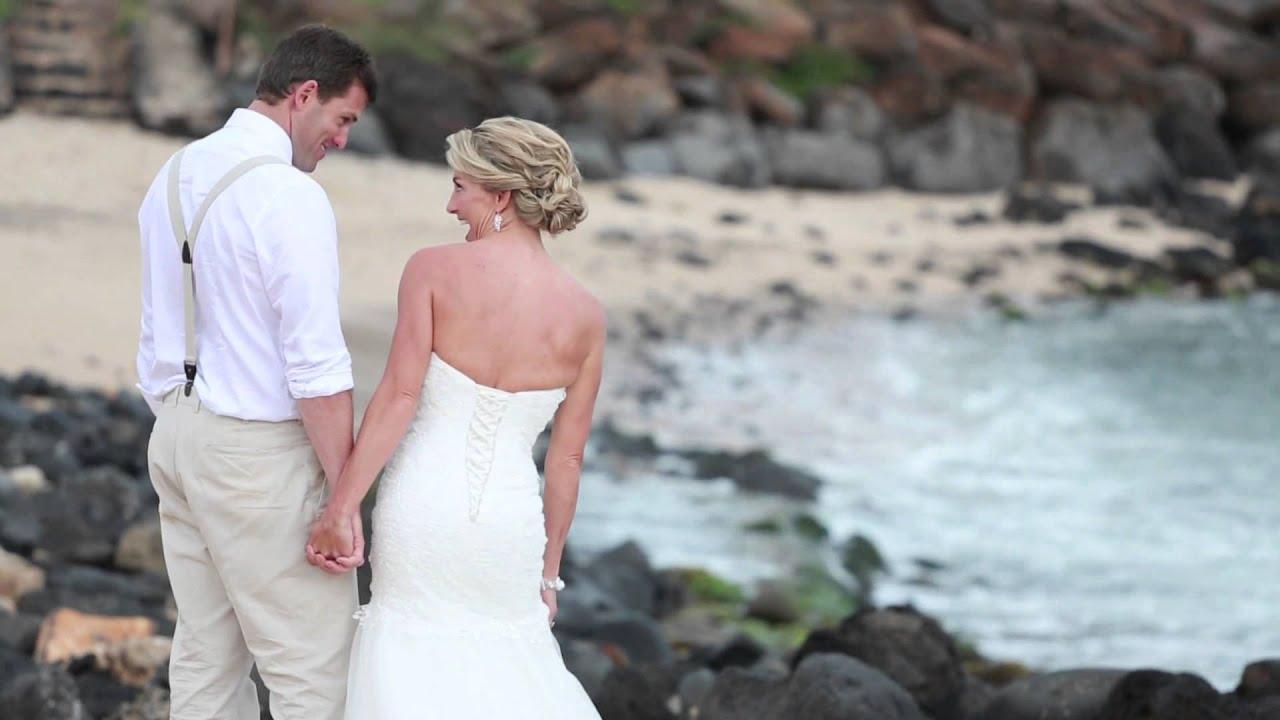 Beach Wedding Ceremony Oahu: Trisha + Monty / Kauai Wedding