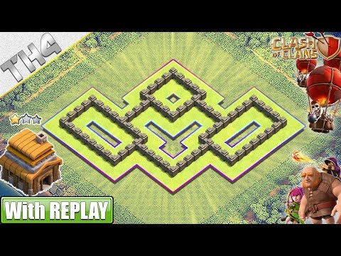 NEW BEST Town Hall 4 (TH4) Base (FARMING/HYBRID) With REPLAY 2019 - Clash Of Clans