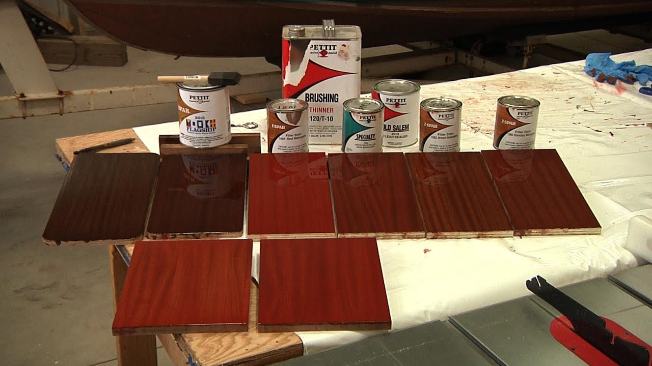Painting Kitchen Cabinets Red Classic Boat Finish On Mahogany Youtube