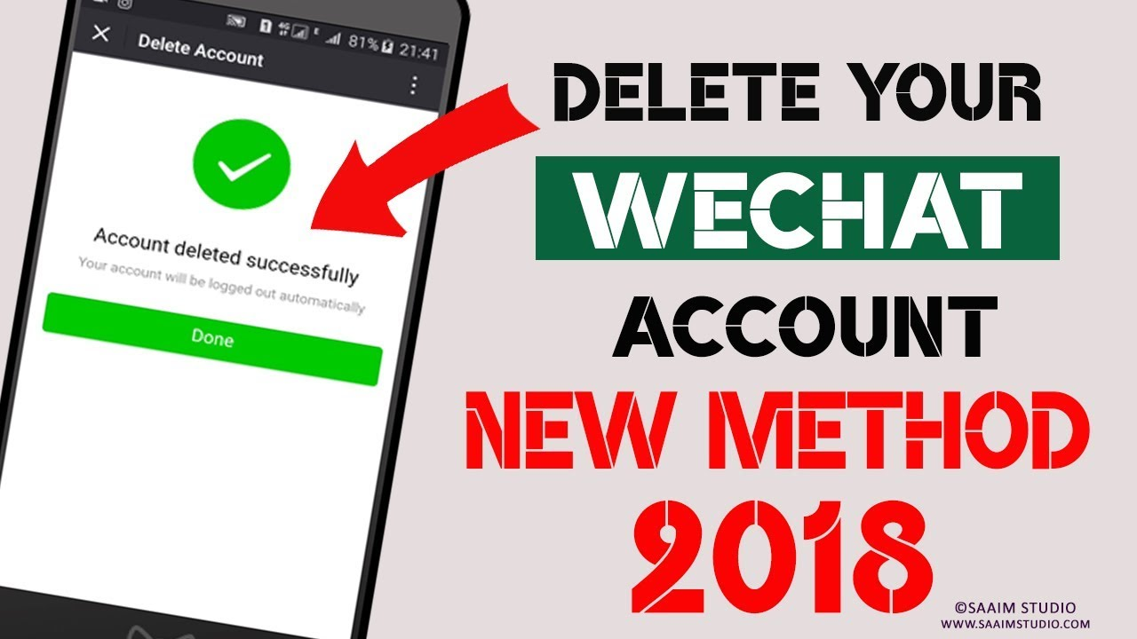 How To Delete WeChat Account Urdu/Hindi? Delete Your WeChat Account  Permanently? by Saaim Studio