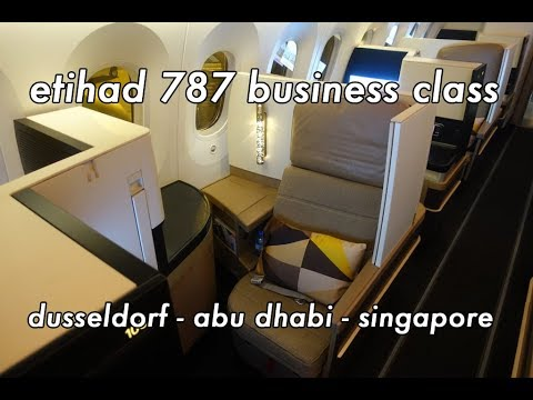 Etihad Business Cl 787 Dreamliner Incl First Lounge Abu Dhabi