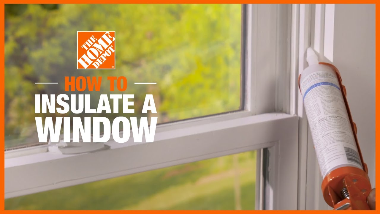 How To Insulate Windows In Cold Weather The Home Depot - Window Plastic Insulation