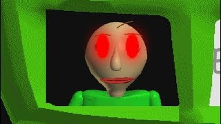 GETTING AWAY FROM BALDI! - Baldi's Basics In Education and Learning - Horror Game (part 4)