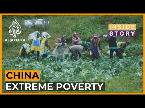 How is extreme poverty being measured in China?