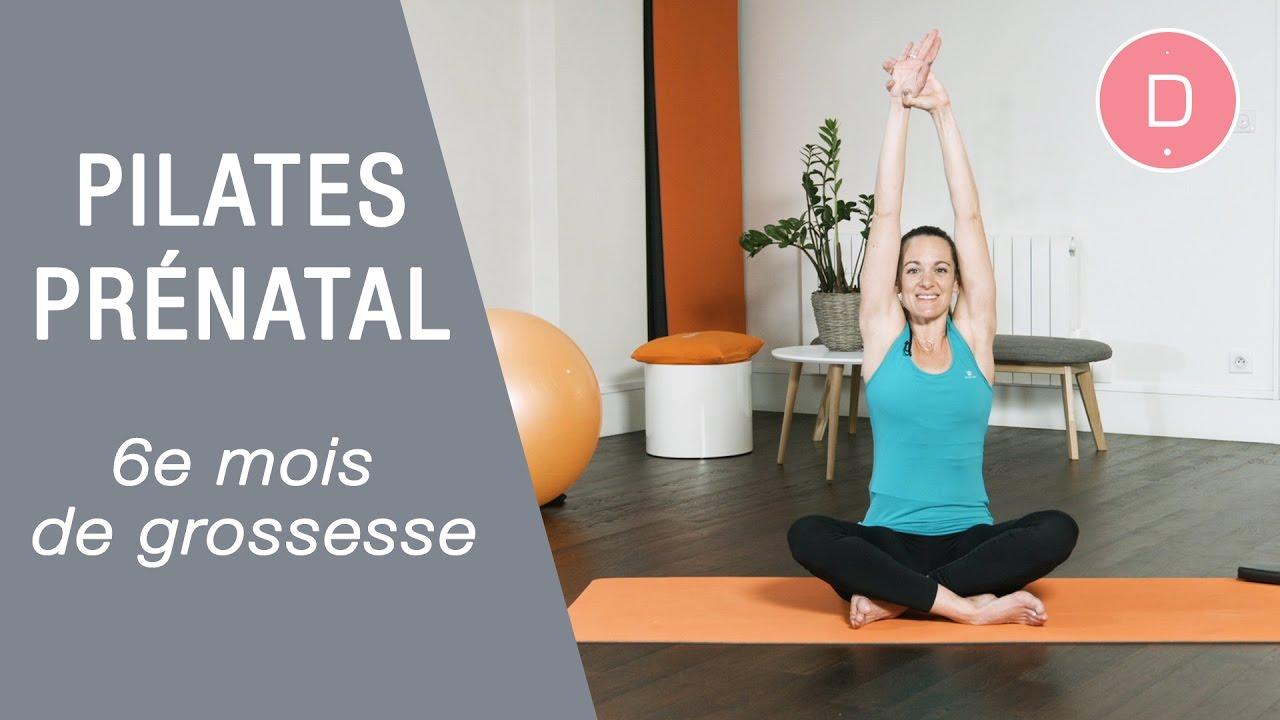 Célèbre Pilates Prénatal – 6ème mois de grossesse - YouTube OK25
