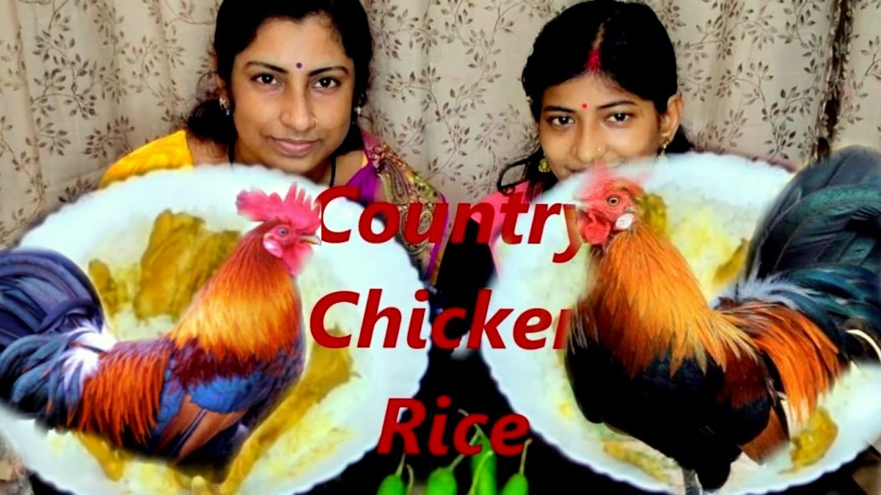 SPICY COUNTRY CHICKEN RICE Eating Challenge/Indian Bengali Food Eating Competition/Eating Big Bites